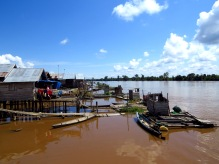 Tanjung Taruna on the Kahayan River - where focus groups and interviews were also held. Photo by Sara Thornton.